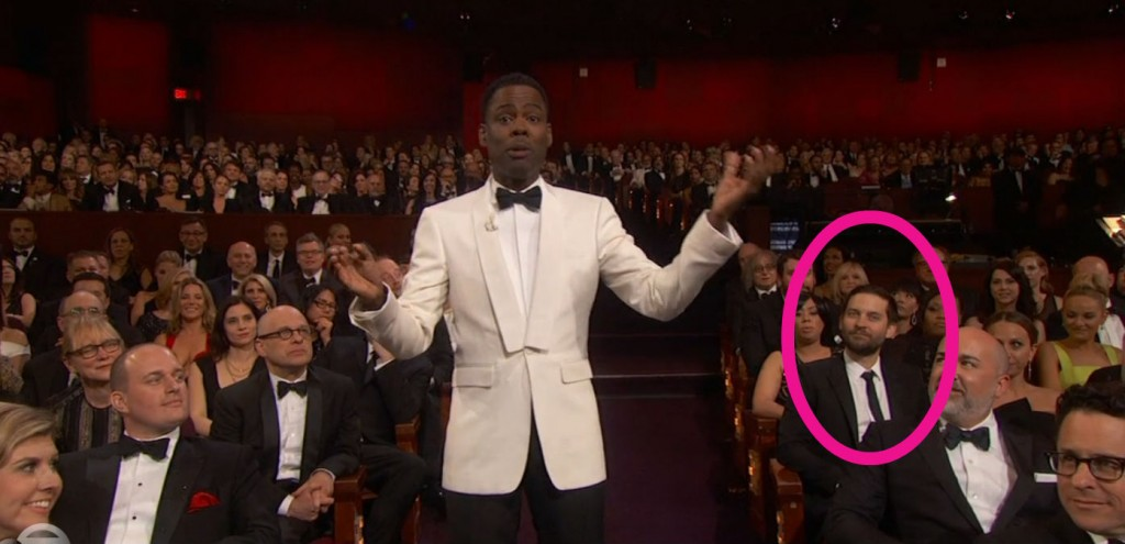 Tobey Maguire at the Oscars