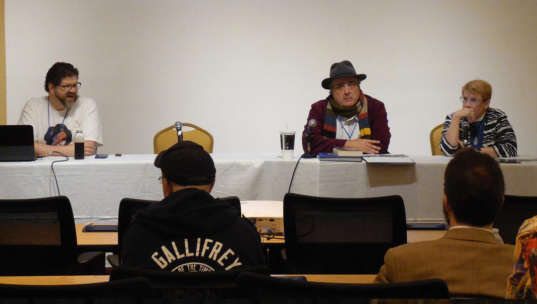 Sarah Jane Adventures - 10 Years Panelists Martin Hennessee, Bill Wilson, and Kathryn Sullivan
