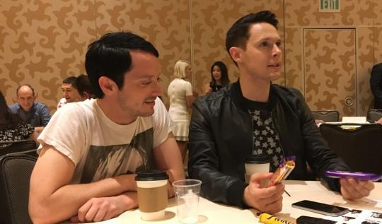 Elijah Wood and Samuel Barnett Dirk Gently SDCC