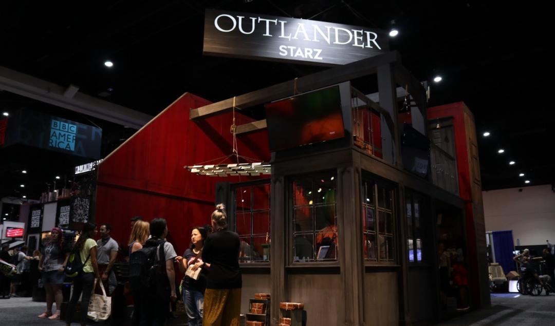 Outlander Starz booth