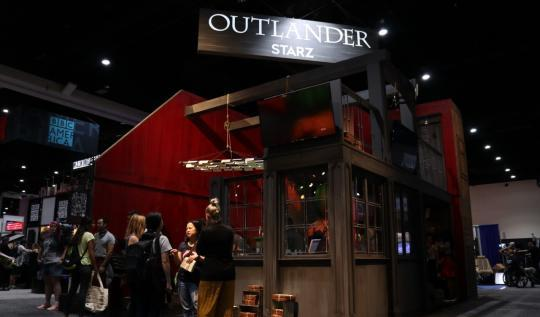 Outlander Starz booth