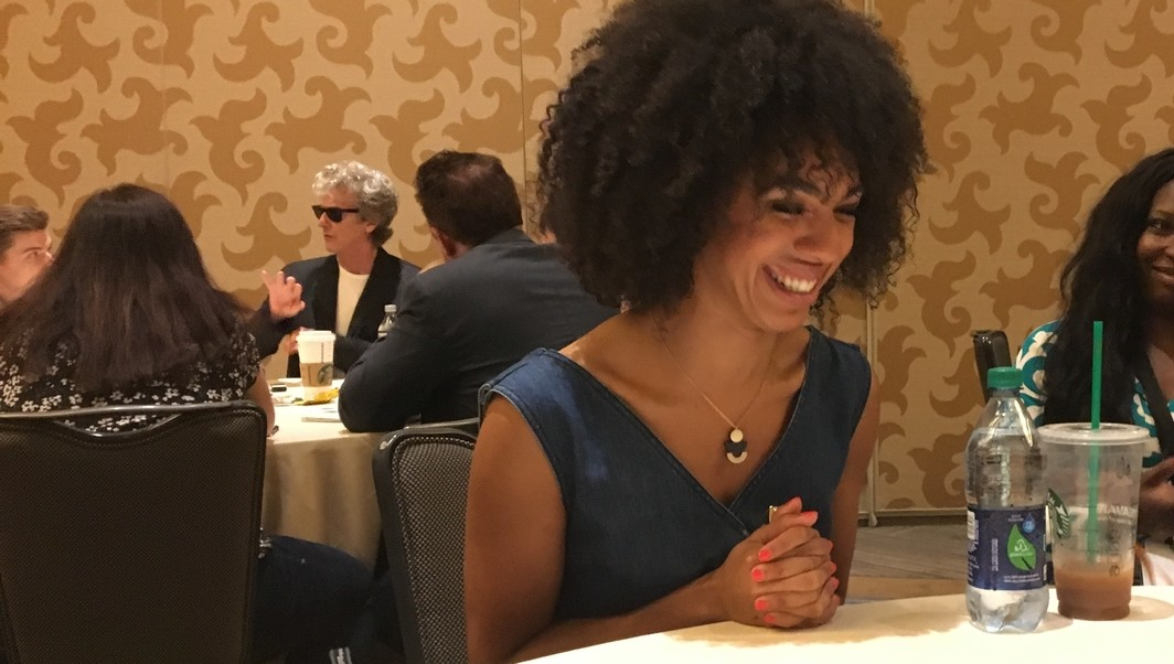 Pearl Mackie Doctor Who SDCC
